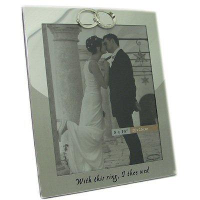 Wedding Rings 8x10 Wedding Photo Frame Silver