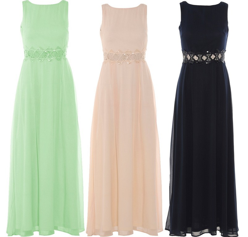 ... SIZE WAISTED CROCHET SEQUIN EMBELLISHED LONG MAXI PROM DRESSES 16-26